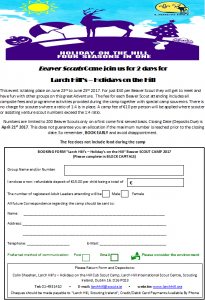 Beavers Application Form 17