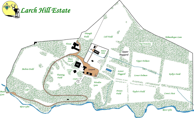 Larch Hill map