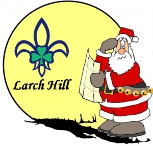 Larch Hill Santa Logo
