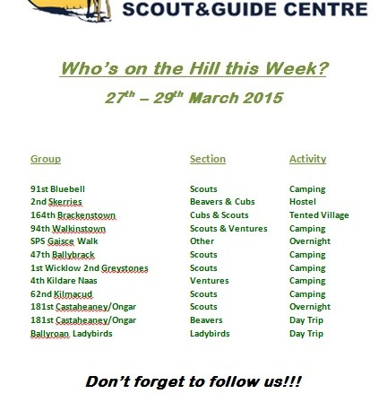 Who is in the Hill 27th to 29th March